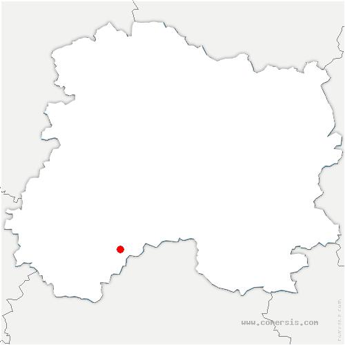 carte de localisation de Faux-Fresnay