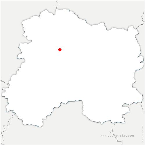 carte de localisation de Fontaine-sur-Ay