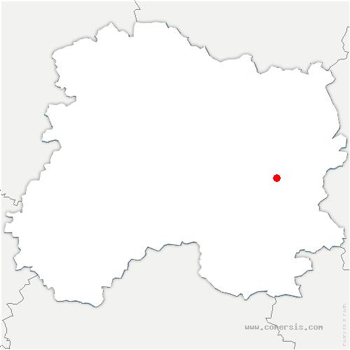 carte de localisation de Fresne