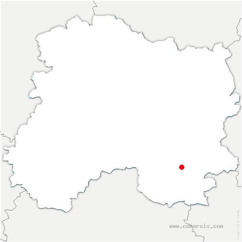 carte de localisation de Frignicourt