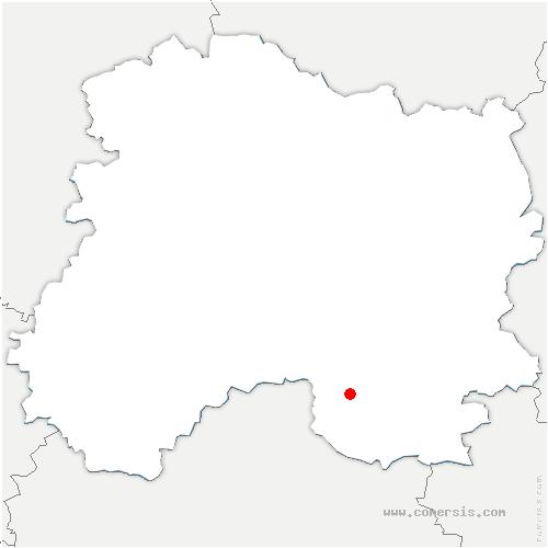 carte de localisation de Glannes