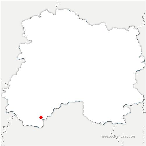 carte de localisation de Granges-sur-Aube