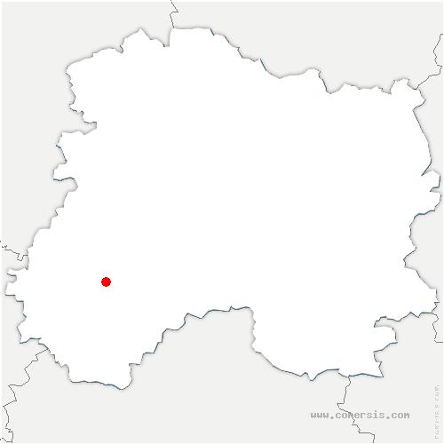carte de localisation de Hauteville