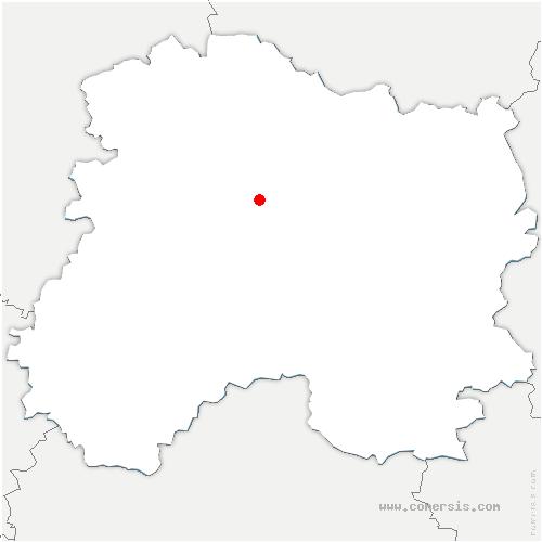 carte de localisation de Isse