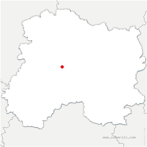 carte de localisation de Istres-et-Bury