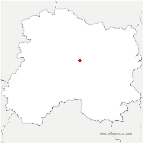 carte de localisation de Juvigny