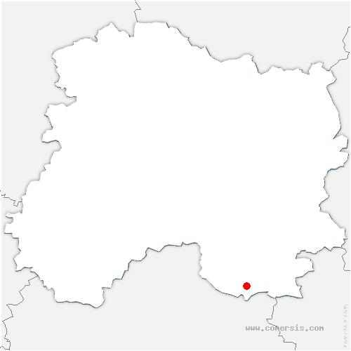 carte de localisation de Lignon