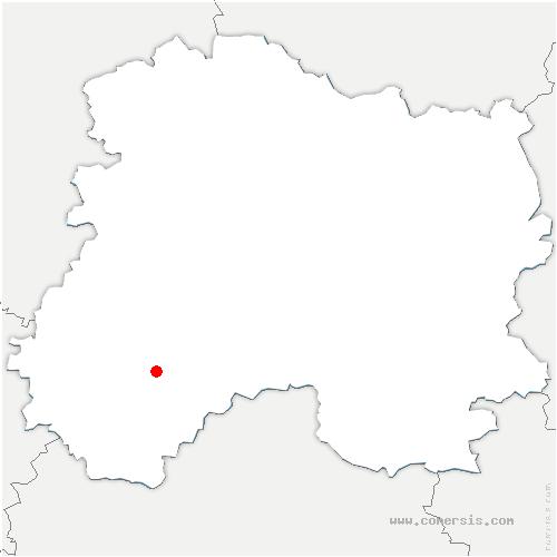 carte de localisation de Linthes