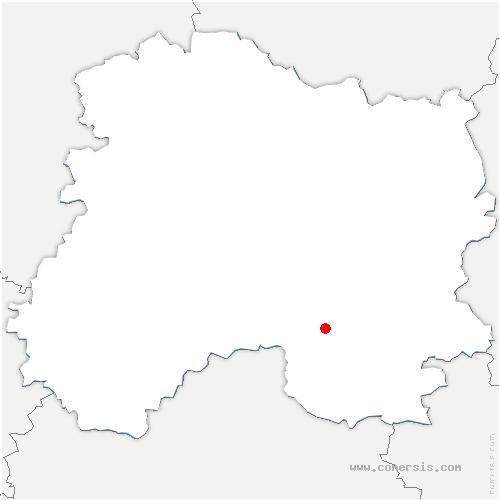 carte de localisation de Maisons-en-Champagne