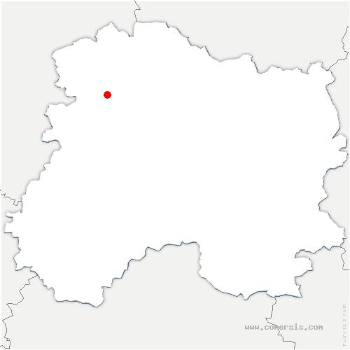 carte de localisation de Marfaux