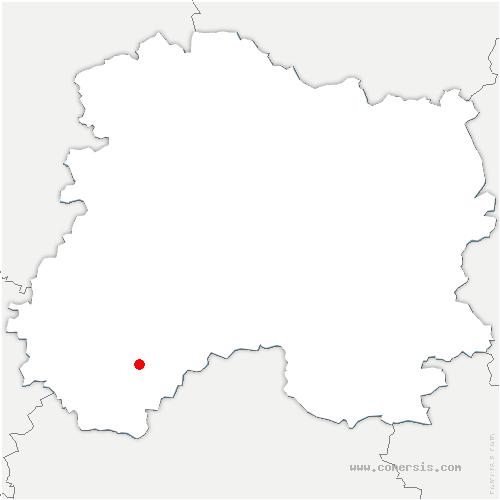 carte de localisation de Marigny