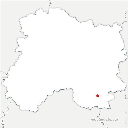 carte de localisation de Moncetz-l'Abbaye