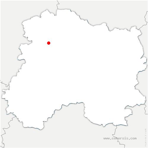 carte de localisation de Nanteuil-la-Forêt
