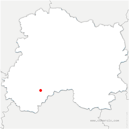 carte de localisation de Ognes