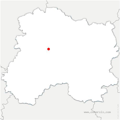carte de localisation de Oiry