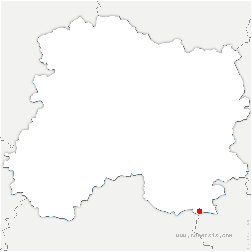 carte de localisation de Outines