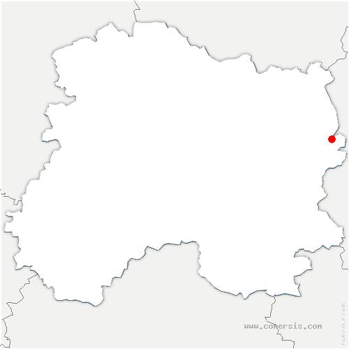 carte de localisation de Passavant-en-Argonne
