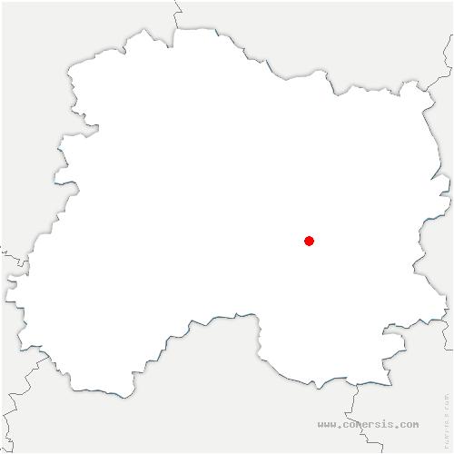 carte de localisation de Pogny
