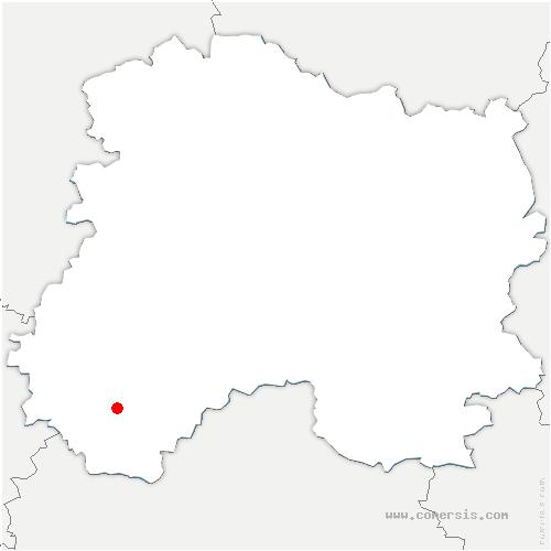 carte de localisation de Queudes