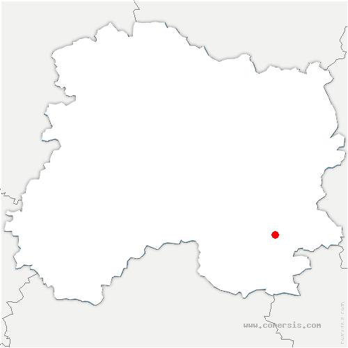 carte de localisation de Reims-la-Brûlée