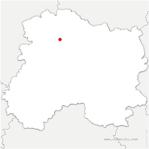 carte de localisation de Rilly-la-Montagne