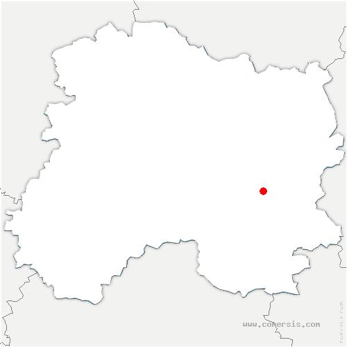 carte de localisation de Saint-Amand-sur-Fion
