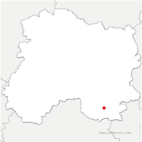 carte de localisation de Saint-Chéron
