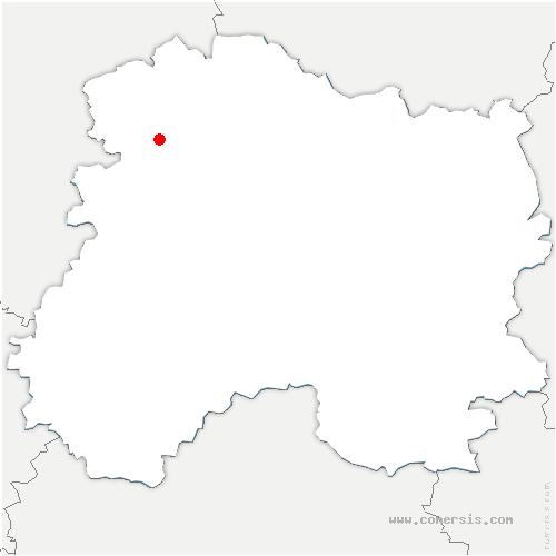 carte de localisation de Saint-Euphraise-et-Clairizet