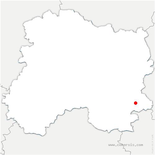 carte de localisation de Saint-Lumier-la-Populeuse
