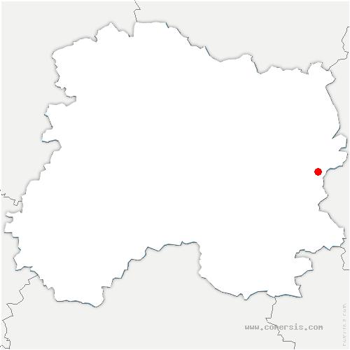 carte de localisation de Saint-Mard-sur-le-Mont