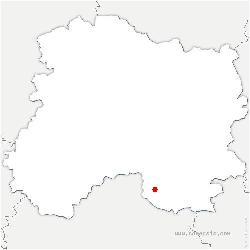 carte de localisation de Saint-Ouen-Domprot