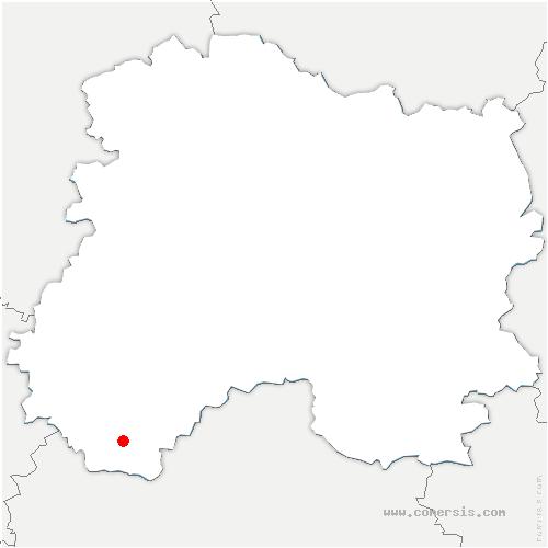 carte de localisation de Saint-Quentin-le-Verger