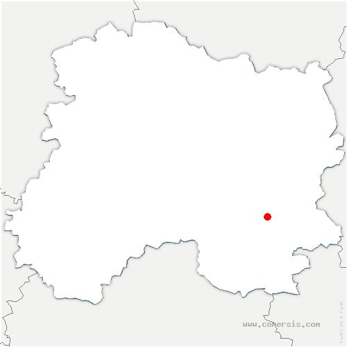 carte de localisation de Saint-Quentin-les-Marais