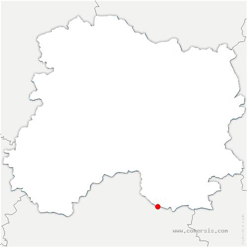 carte de localisation de Saint-Utin