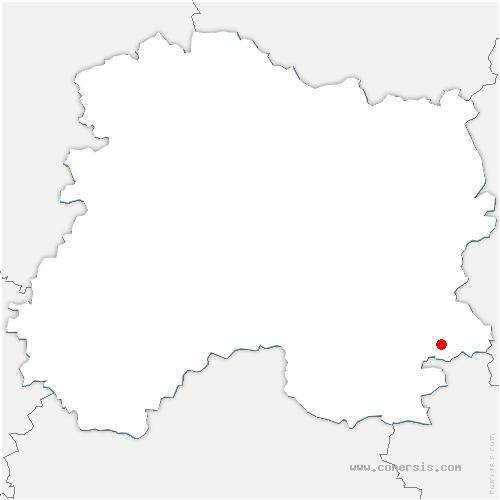 carte de localisation de Saint-Vrain