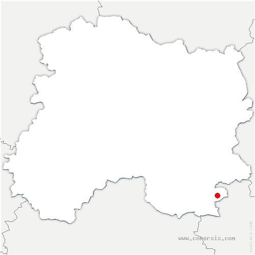 carte de localisation de Sainte-Marie-du-Lac-Nuisement