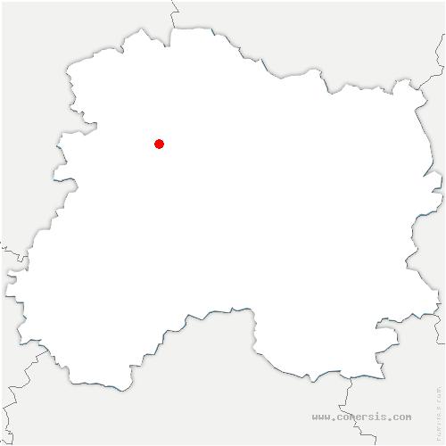 carte de localisation de Sermiers