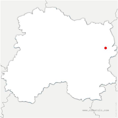 carte de localisation de Sivry-Ante