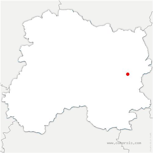 carte de localisation de Somme-Yèvre