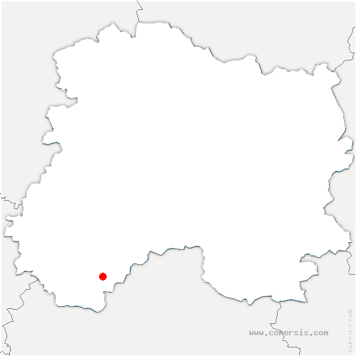 carte de localisation de Thaas