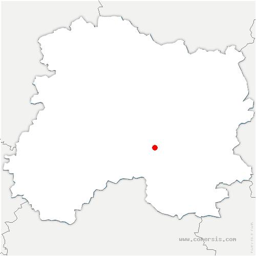 carte de localisation de Togny-aux-Bœufs