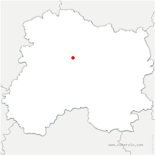 carte de localisation de Tours-sur-Marne