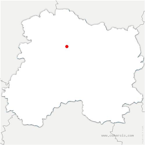 carte de localisation de Trépail
