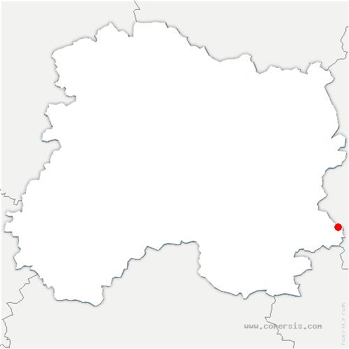 carte de localisation de Trois-Fontaines-l'Abbaye