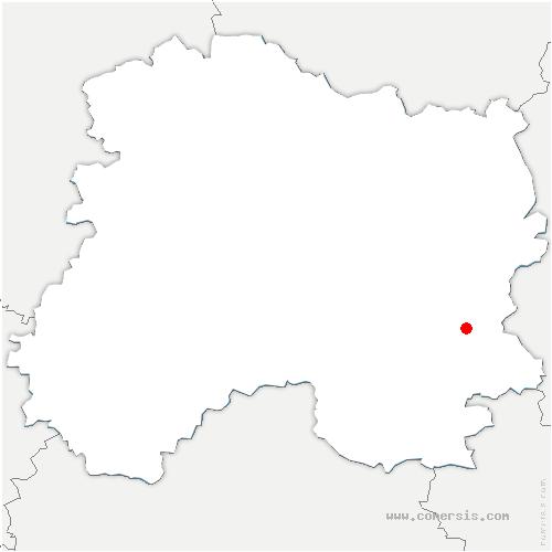 carte de localisation de Val-de-Vière