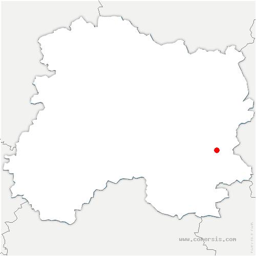 carte de localisation de Vanault-les-Dames