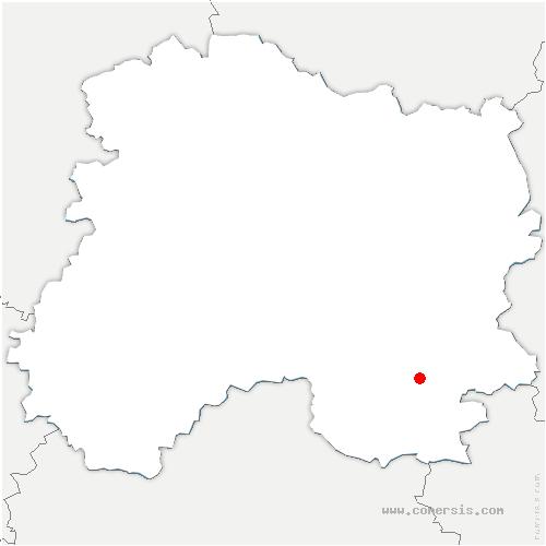 carte de localisation de Vauclerc