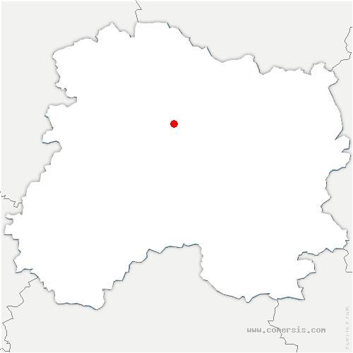 carte de localisation de Vaudemange