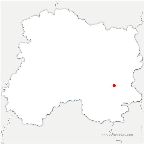 carte de localisation de Vavray-le-Grand