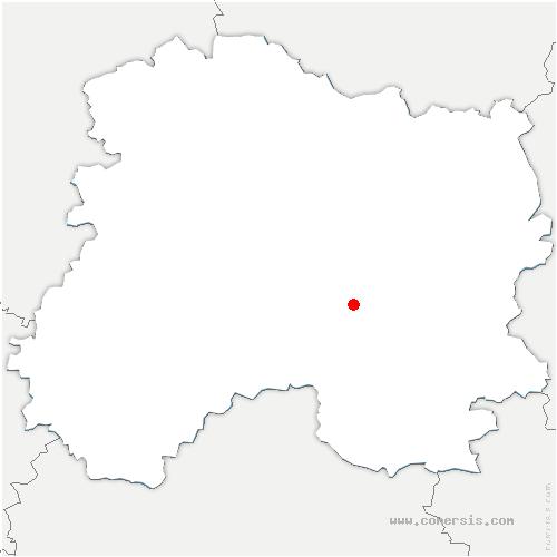 carte de localisation de Vésigneul-sur-Marne